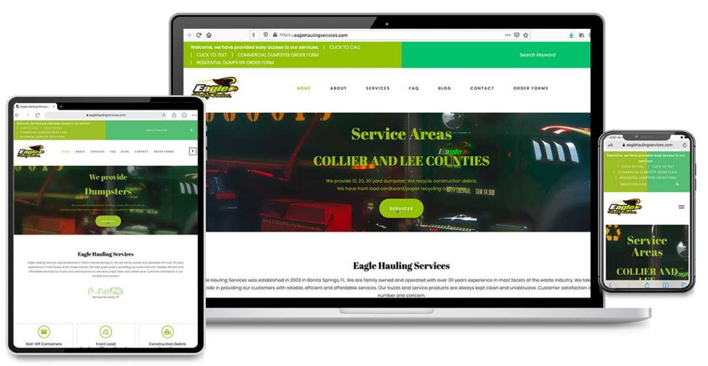 Content Research, Content Writing, Website Design, Search Engine Optimization, Search Engine Marketing for Eagle Hauling Services