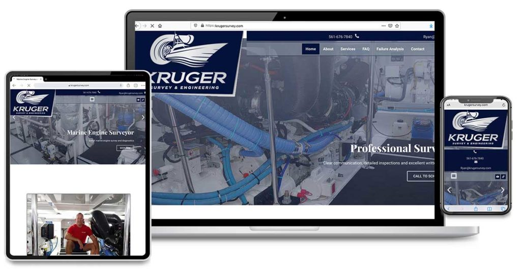 Website Design, Search Engine Marketing and Search Engine Optimization for Kruger Survey and Engineering