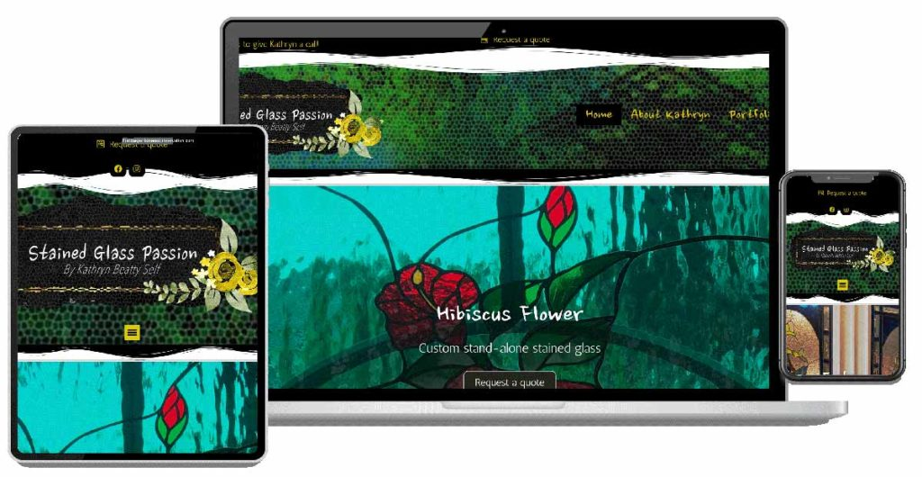 Custom Website Design, Graphic Design for Stained Glass Passion, Vero Beach Glassmith