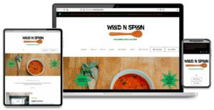 Custom Website for Wood 'N Spoon, Vero Beach, Florida